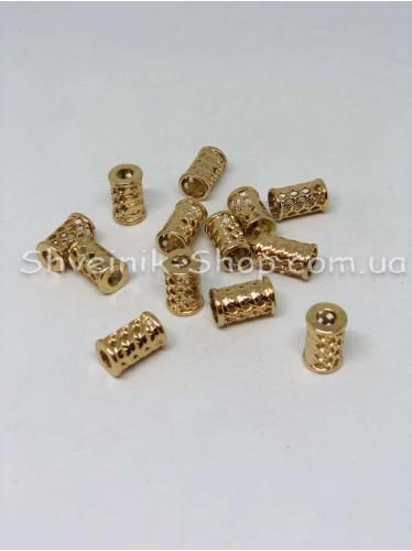 Наконечник Ажурный (Металлический ) Цвет Золото Размер 18мм   диаметр 6 мм в упаковке 200 штук