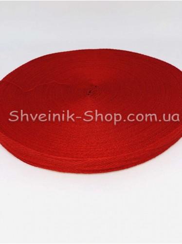 Киперная лента х/б ширина 1,5 см в упаковке 46м Цвет: красный