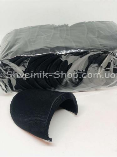 Плечевые Накладки Жёсткие размер #5 высота 13мм цвет Чёрный в упаковке 12 пар