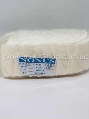 Плечевые Накладки Жёсткие размер #6 высота 13мм цвет Белый в упаковке 12 пар