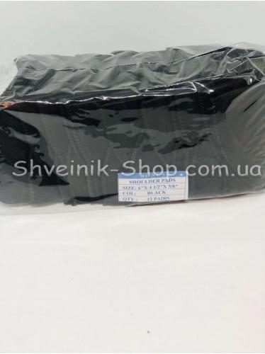 Плечевые Накладки Жёсткие размер #6 высота 13мм цвет Чёрный в упаковке 12 пар