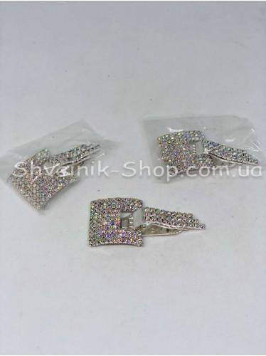 Декоративный Шубный с камнем цвет Серебро цена за 1 штуку