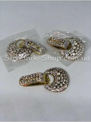 Декоративный Шубный с камнем цвет Золото цена за 1 штуку