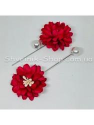 Брошка Шпилька Цветок в упаковке 50 штук Длина 8 см Цвет : Красный