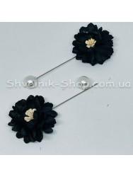 Брошка Шпилька Цветок в упаковке 50 штук Длина 8 см Цвет : Чёрный