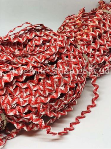 Вьюнок Порча Ширина 7мм Цвет Красный+Белый  В упаковке 230 метров