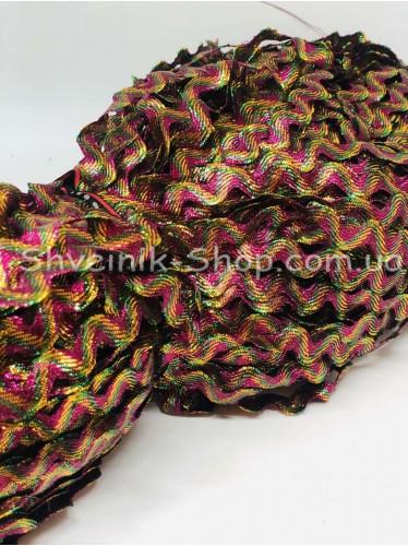 Вьюнок Порча Ширина 7мм Цвет Бордо+Золото  В упаковке 230 метров