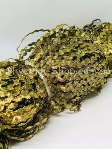 Вьюнок Порча Ширина 5мм Цвет Золото светлое  В упаковке 230 метров