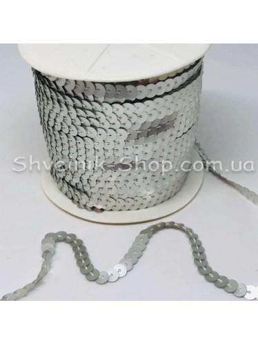 Паетка на нитке в бобине цвет Серебро матовое в упаковке 92м