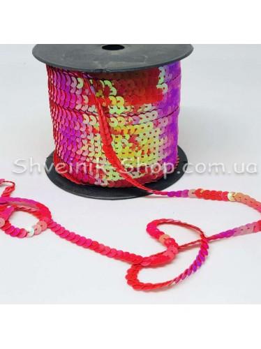 Паетка на нитке в бобине цвет Красная с блеском в упаковке 92м