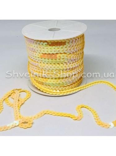 Паетка на нитке в бобине цвет Жёлтая с блеском в упаковке 92м