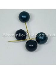 Брошка Шпилька Шарик в  упаковке 50 штук Длина 5,0 см Цвет : Чёрный