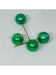 Брошка Шпилька Шарик в  упаковке 50 штук Длина 5,0 см Цвет :  Зелёный