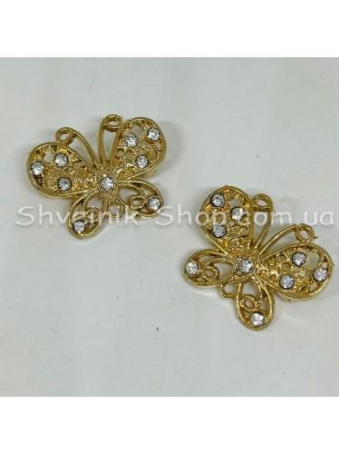 Брошка Бабочка Размер : 2*2,5 cm Цвет  Золото в упаковке 50 штук цена за упаковку