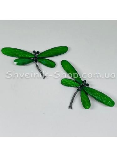 Брошка Cтрекоза Размер : 3*7 cm Цвет Зеленый в упаковке 25 штук цена за упаковку