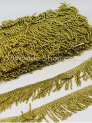 Бахрома порча крученая Ширина 4,5cм Цвет : Светлое Золото в упаковке 18,2 Метра
