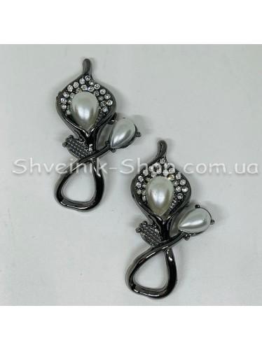 Брошка Лилия Размер : 5,5*2,5 cm Цвет: Тёмное Серебро  в упаковке 25 штук цена за упаковку