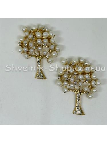 Брошка Дерево Размер : 4*3 cm Цвет: Золото  в упаковке 25штук цена за упаковку