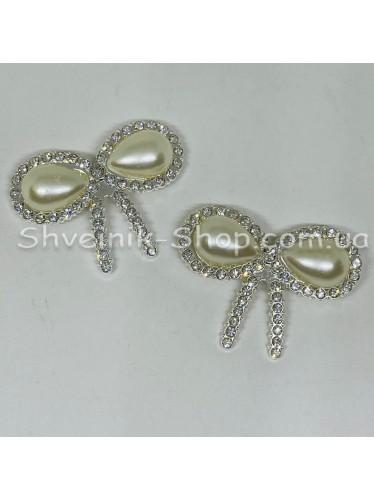 Брошка Бантик Размер : 3,5*4,5 cm Цвет: Серебро в упаковке 50 штук цена за упаковку