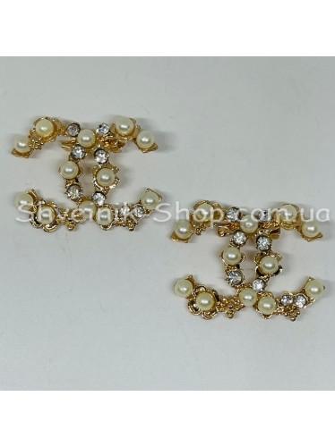 Брошка Шанель Размер :3,5*5 cm Цвет: Золото в упаковке 25 штук цена за упаковку