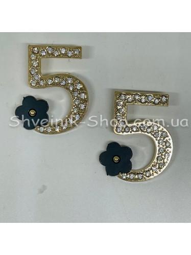 Брошка 5  Размер :3,5*2,5cm Цвет: Золото + Чёрный в упаковке 50 штук цена за упаковку