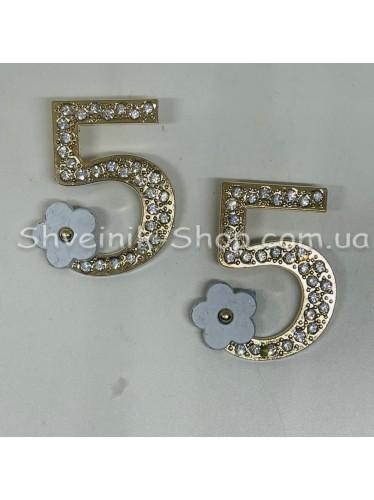 Брошка 5  Размер :3,5*2,5cm Цвет: Золото + Белый в упаковке 50 штук цена за упаковку