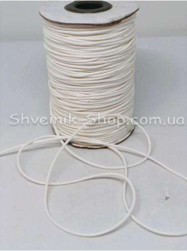 Шнур вощённый 3мм цвет: Белый  в бобине 100м цена за бобину