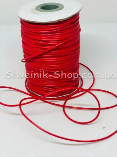 Шнур вощённый 3мм цвет: Красный в бобине 100м цена за бобину
