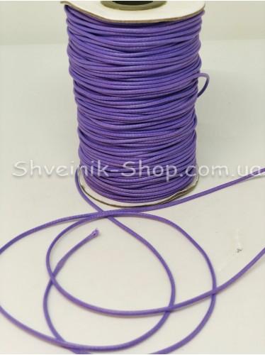 Шнур вощённый 3мм цвет: Сиреневый в бобине 100м цена за бобину