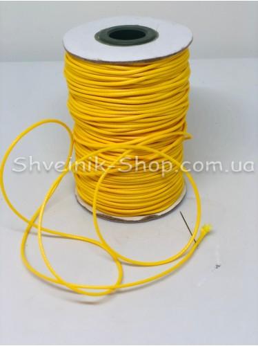 Шнур вощённый 3мм цвет: Жёлтый в бобине 100м цена за бобину