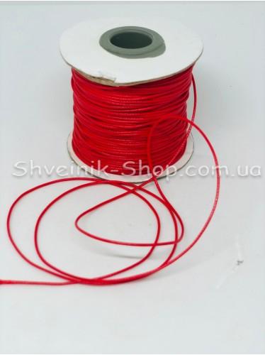Шнур вощённый 2мм цвет: Красный в бобине 100м цена за бобину