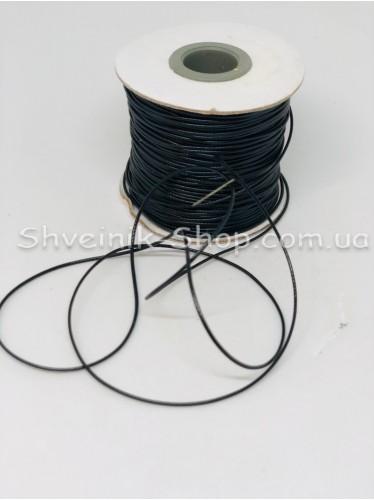 Шнур вощённый 2мм цвет: Чёрный в бобине 100м цена за бобину