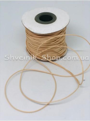 Шнур вощённый 2мм цвет: Бежевый в бобине 100м цена за бобину
