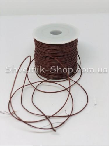 Шнур вощённый 2мм цвет: Коричневый в бобине 100м цена за бобину