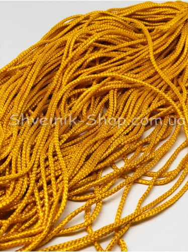 Шнур спорт с люрексом  4 мм цвет: Желтый с золотом в упаковке 100м цена за упаковку