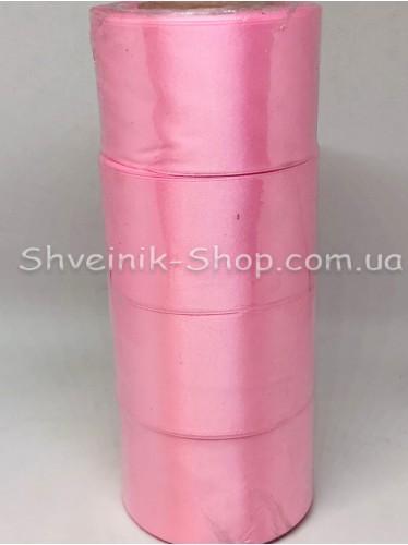 Лента атласная (Сатиновая лента) Ширина 5 см Цвет: Розовая в упаковке 92 метра цена за упаковку