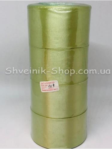Лента атласная (Сатиновая лента) Ширина 5 см Цвет: Оливка в упаковке 92 метра цена за упаковку