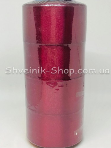 Лента атласная (Сатиновая лента) Ширина 5 см Цвет: Бордо в упаковке 92 метра цена за упаковку