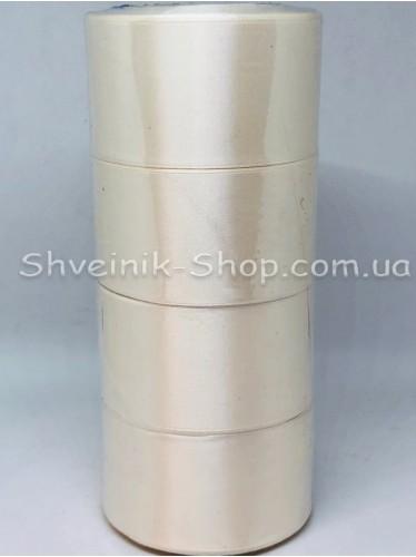 Лента атласная (Сатиновая лента) Ширина 5 см Цвет: Молоко в упаковке 92 метра цена за упаковку