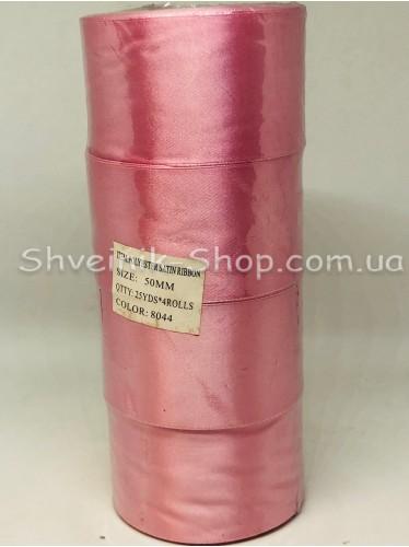 Лента атласная (Сатиновая лента) Ширина 5 см Цвет: Пудра в розовый в упаковке 92 метра цена за упаковку