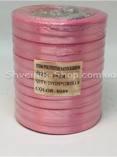 Лента атласная (Сатиновая лента) Ширина 0,6см Цвет: Грязно Розовый в упаковке 276 метров цена за упаковку