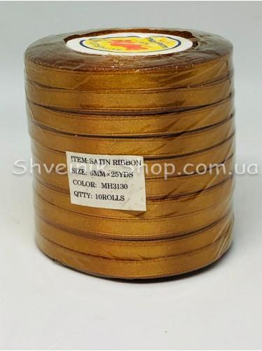 Лента атласная (Сатиновая лента) Ширина 0,6см Цвет: Рыжий в упаковке 230 метров цена за упаковку