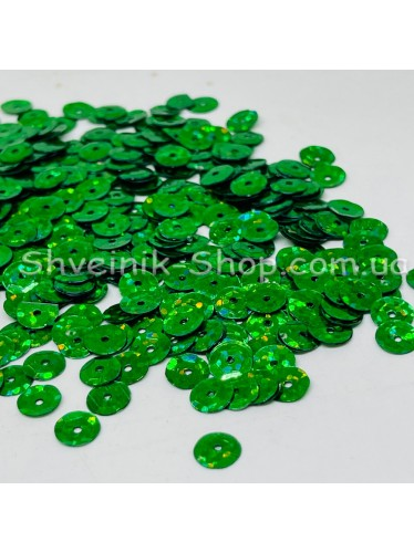 Паетка россыпью круг Цвет: зеленый голограмма Размер: диаметр 0,6 см в упаковке 500г цена за упаковку
