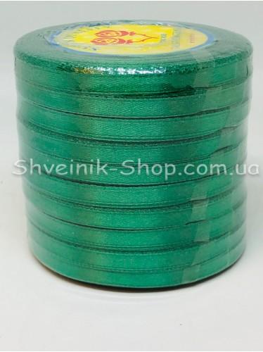 Лента атласная (Сатиновая лента) Ширина 0,6см Цвет: зелёный в упаковке 230 метров цена за упаковку