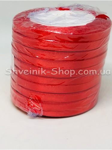 Лента атласная (Сатиновая лента) Ширина 0,6см Цвет: Красный  в упаковке 230 метров цена за упаковку