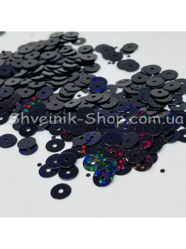 Паетка россыпью круг Цвет: черный голограмма Размер: диаметр 0,6 см в упаковке 500г цена за упаковку