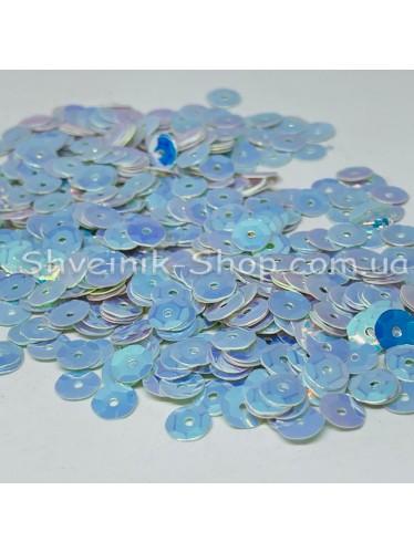 Паетка россыпью круг Цвет: белый с голубым отливом Размер: диаметр 0,6 см в упаковке 500г цена за упаковку