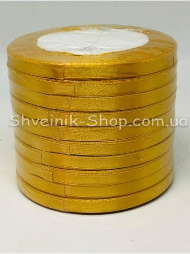 Лента атласная (Сатиновая лента) Ширина 0,6см Цвет: Золото  в упаковке 230 метров цена за упаковку