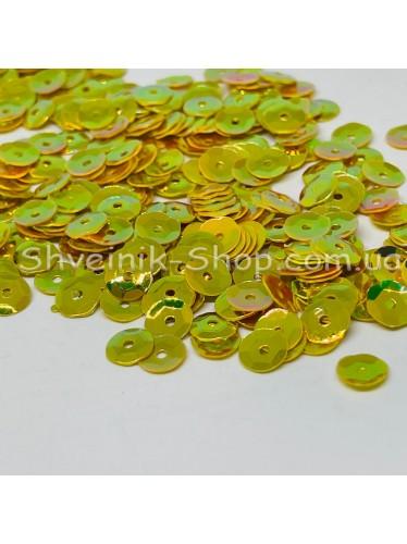 Паетка россыпью круг Цвет: золото Размер: диаметр 0,6 см в упаковке 500г цена за упаковку