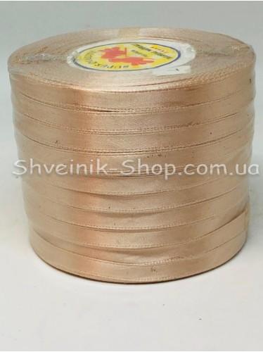 Лента атласная (Сатиновая лента) Ширина 0,6см Цвет: Бежевый  в упаковке 230 метров цена за упаковку